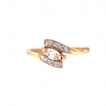 Rose gold zirconia ring DRS06-04-01