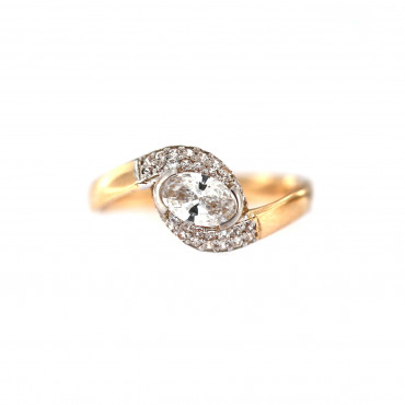 Rose gold engagement ring DRS06-04-02