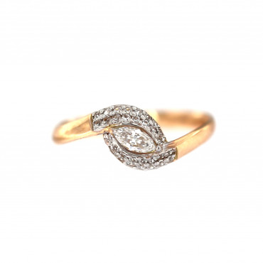 Rose gold engagement ring DRS06-04-03