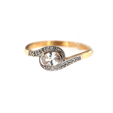 Rose gold engagement ring DRS06-04-04