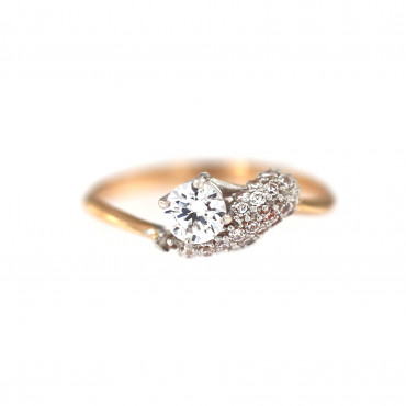 Rose gold zirconia ring DRS08-01-01