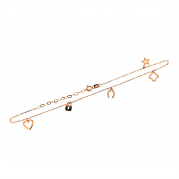 Rose gold anklet EK01-01