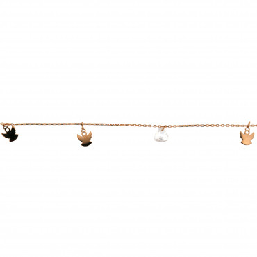 Rose gold anklet EK02-01