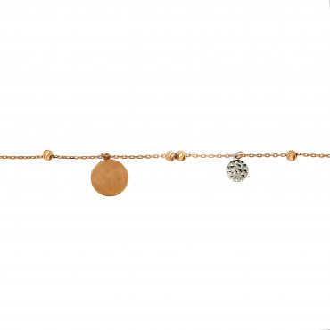 Rose gold anklet EK03-02