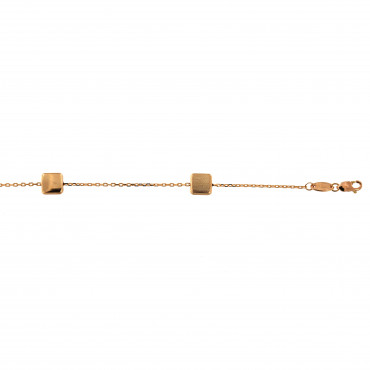 Rose gold anklet EK07-01