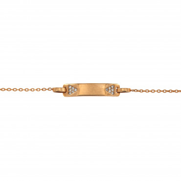 Rose gold bracelet with zirconia ESP02-01