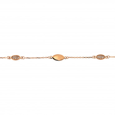 Rose gold bracelet with zirconia ESP04-01