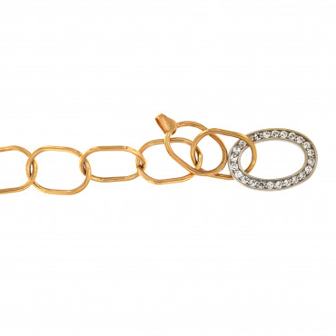 Rose gold bracelet with zirconia ESP14-01