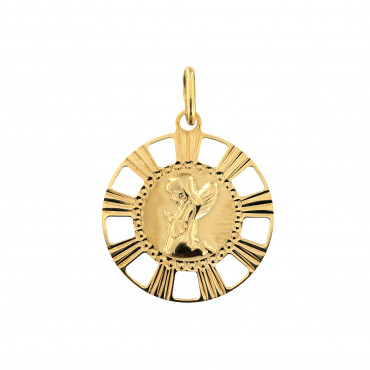 Yellow gold angel pendant AGA02-05