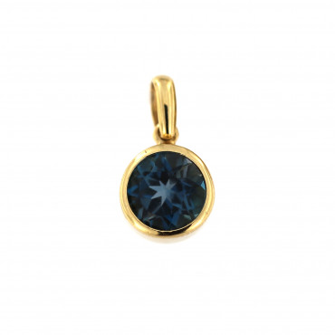 Yellow gold spinel pendant AGAK-M-01