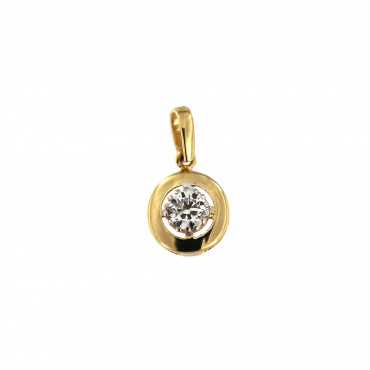 Yellow gold zirconia pendant AGC02-03