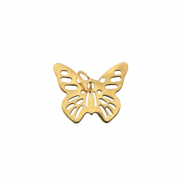 Yellow gold butterfly pendant AGD03-01