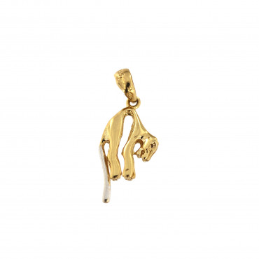 Yellow gold pendant AGG01-03