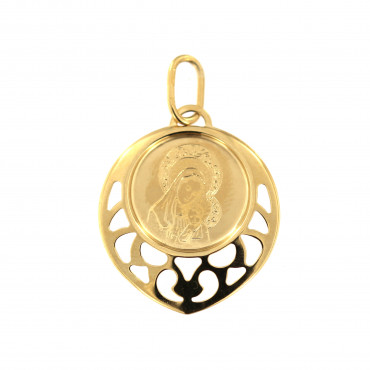 Yellow gold icon pendant AGM01-05