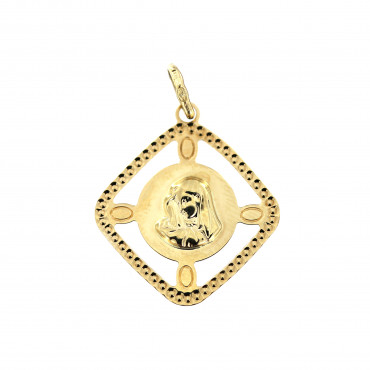 Yellow gold icon pendant AGM06-01