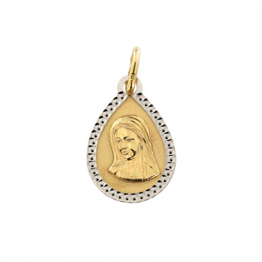 Yellow gold icon pendant AGM07-01