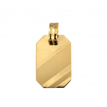 Yellow gold tag pendant AGPL02-02