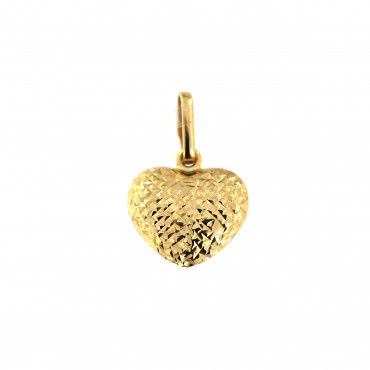 Yellow gold heart pendant AGS01-23