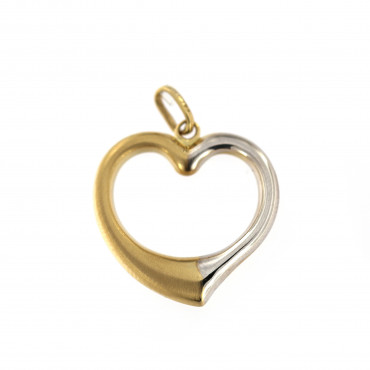 Yellow gold heart pendant AGS01-24