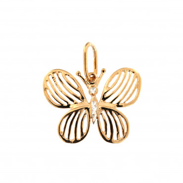 Rose gold butterfly pendant ARD07