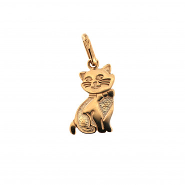 Rose gold cat pendant ARG17-02
