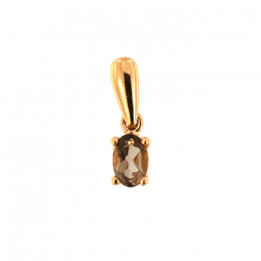 Rose gold pendant with quartz ARAK-D-02