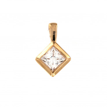 Rose gold zirconia pendant ARC07-02