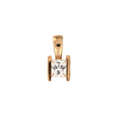 Rose gold zirconia pendant ARC07-03