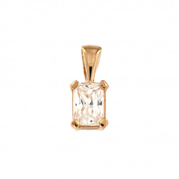 Rose gold zirconia pendant ARC08-01