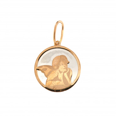 Rose gold angel pendant ARA02-04
