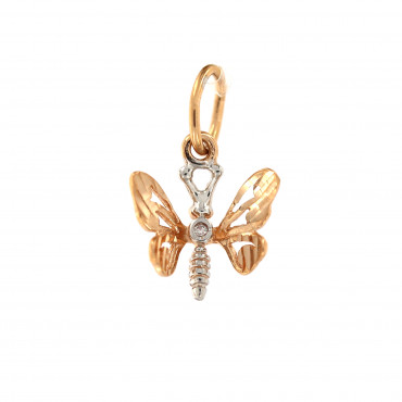 Rose gold butterfly pendant ARD02-01
