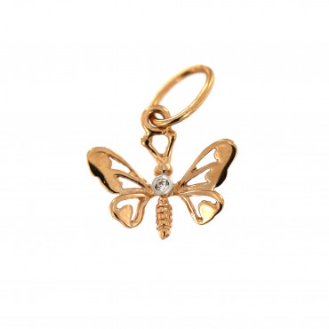 Rose gold butterfly pendant ARD02-02