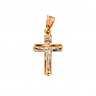 Rose gold cross pendant ARK01-17-1