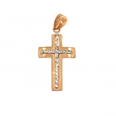 Rose gold cross pendant ARK02-09