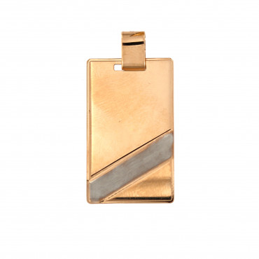 Rose gold tag pendant ARPL02-01