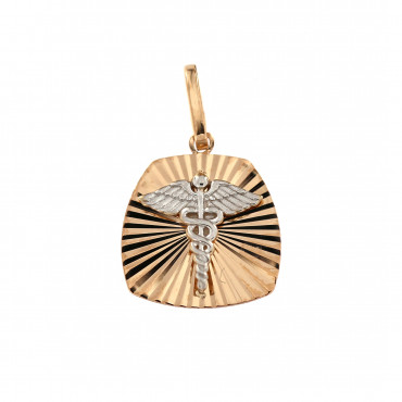 Rose gold tag pendant ARPL04-01