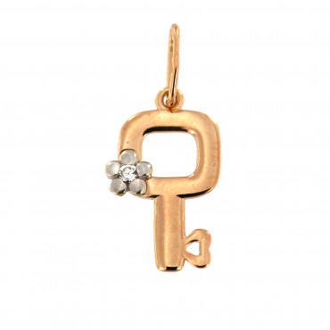 Rose gold key pendant ARRS01-03