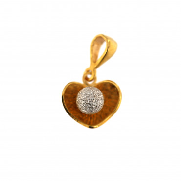 Yellow gold heart pendant AGS01-29
