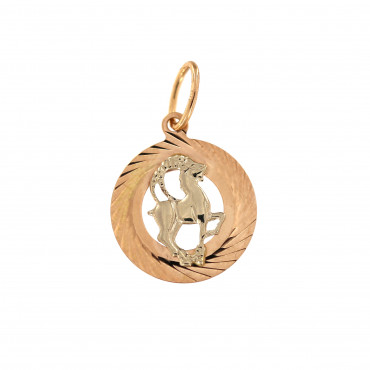 Rose gold Capricorn sign pendant ARH-O-03