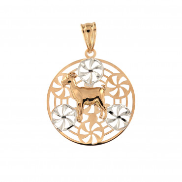Rose gold Capricorn pendant ARH-O-06