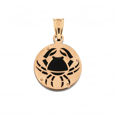 Rose gold Cancer pendant ARH-V-02