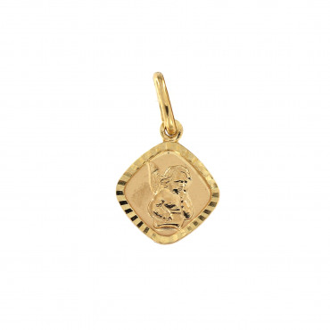 Yellow gold angel pendant AGA02-03