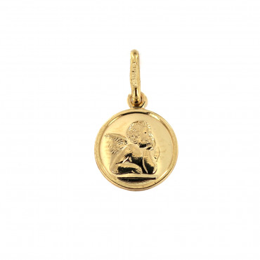 Yellow gold angel pendant AGA02-02