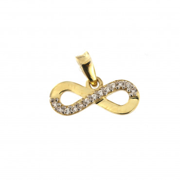 Yellow gold pendant AG801-01