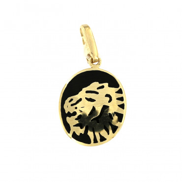 Yellow gold pendant AGG01-02