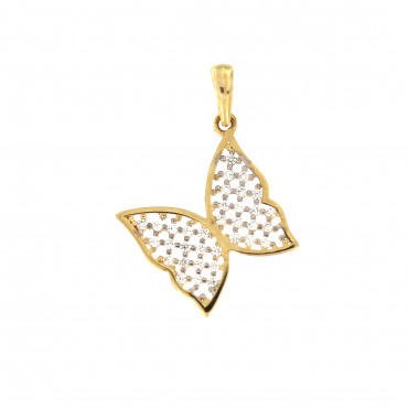 Yellow gold butterfly pendant AGD02-02