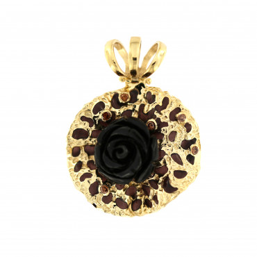 Yellow gold pendant AGBL03-01