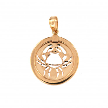 Rose gold Cancer pendant ARH-V-03