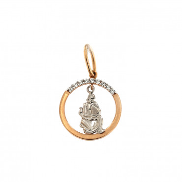 Rose gold Aquarius pendant ARH-VA-02