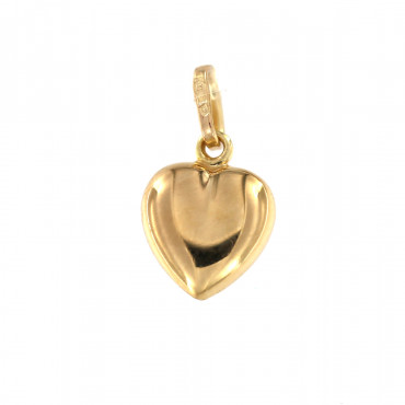 Yellow gold heart pendant AGS01-14